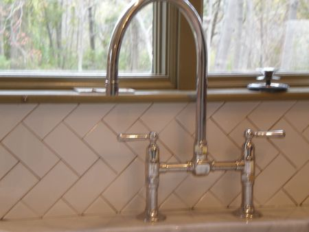 Kitchen faucet and tile
